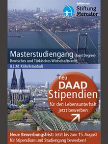 Werbeplakat mit den Städten Istanbul und Köln für den Masterstudiengang Deutsches und Türkisches Wirtschaftsrecht, Foto von Anja Fähnle DW