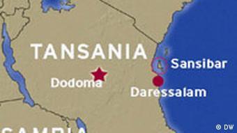 Karte Tansania mit Sansibar