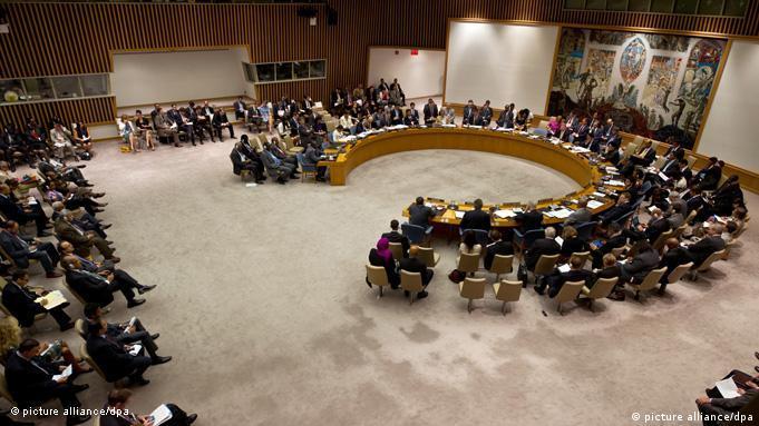 شورای امنیت به هنگام تصویب بیانیه علیه نقض حقوق بشر در سوریه