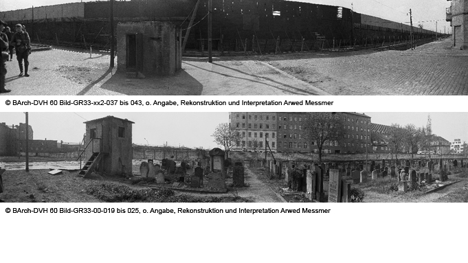 Mid-1960s images of the Berlin Wall and surrounding area