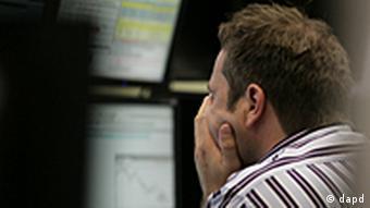 Deutschland Wirtschaft Euro Börse in Frankfurt Kurse auf Talfahrt