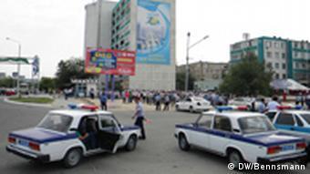 Улица в Актау, Казахстан