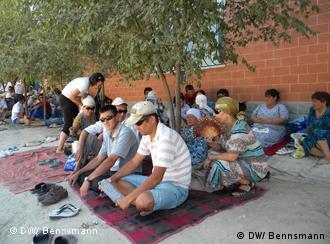 Бастующие в казахстанском городе Актау