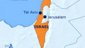 Karte Israel (Grafik: DW)