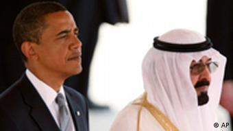 US President Obama with Saudi King Abdullah