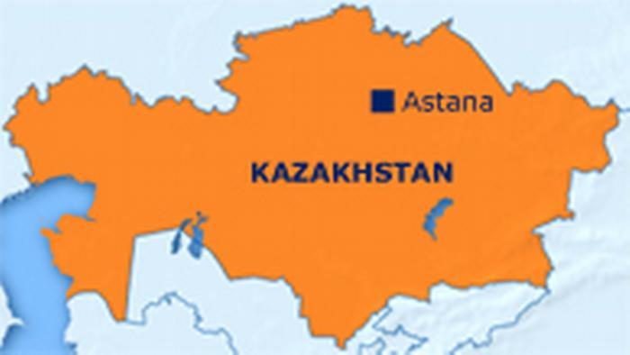 Karte Kasachstan Englisch