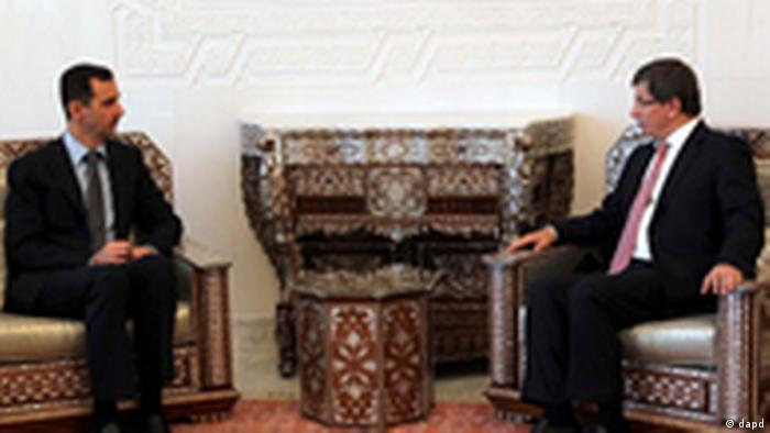 Ahmet Davutoglu in Syrien (dapd)