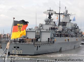 Deutsches Marineschiff 'Bayern' (Foto: dpa)