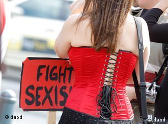 A participant in the Hamburg Slut Walk