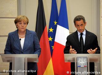 صداعظم آلمان و رئیسجمهور فرانسه در جستوجوی راههای مقابله با بحران بدهیهای اروپا