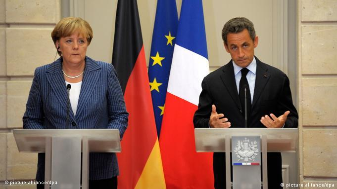 Flash-Galerie Krisentreffen in Paris August 2011 Merkel und Sarkozy Pressekonferenz