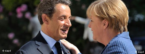 EU Finanzkrise Merkel Sarkozy Paris NO FLASH