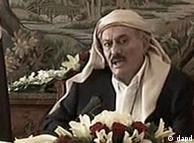 نطق تلویزیونی علی عبدالله صالح از عربستان سعودی پس از معالجه. وی در اثر انفجار بمب در کاخ ریاست جمهوری بهشدت زخمی شده بود