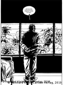 Image from the graphic novel Castro by Reinhard Kleist (Reinhard Kleist/Carlsen Verlag, 2010)