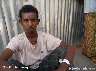 Somali national Sherif Dahir at the Dolo Ado refugee camp in Ethiopia