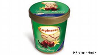 Lupin ice cream carton