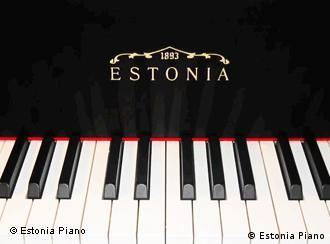An Estonia piano keyboard