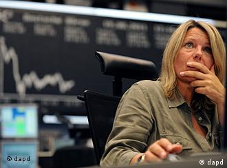 Trader at the Frankfurt Stock Exchange
