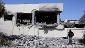Destroyed building in Tripoli