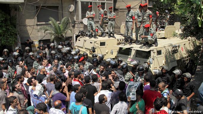 تظاهرات در برابر سفارت اسرائیل در قاهره