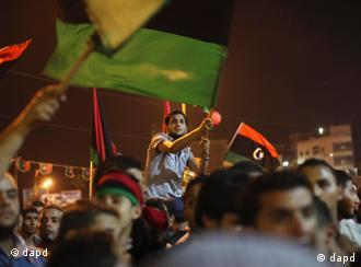 Ливийские повстанцы празднуют победу