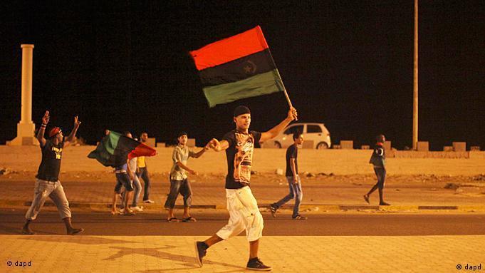 Junger Mann mit der Fahne der Revolution (Foto:dapd)