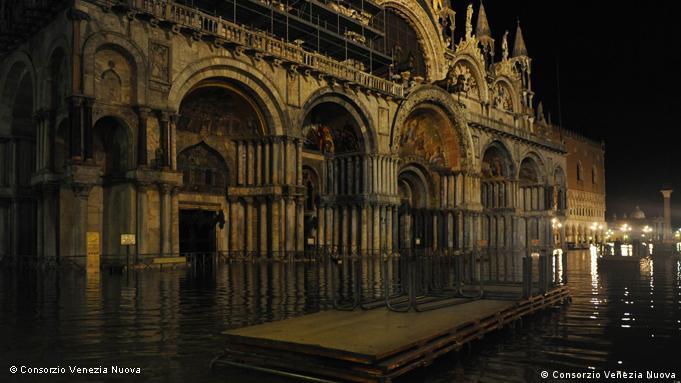 St. Mark's Basilica under water