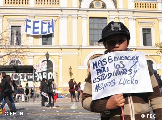 Demonstrant (Foto: FECH)