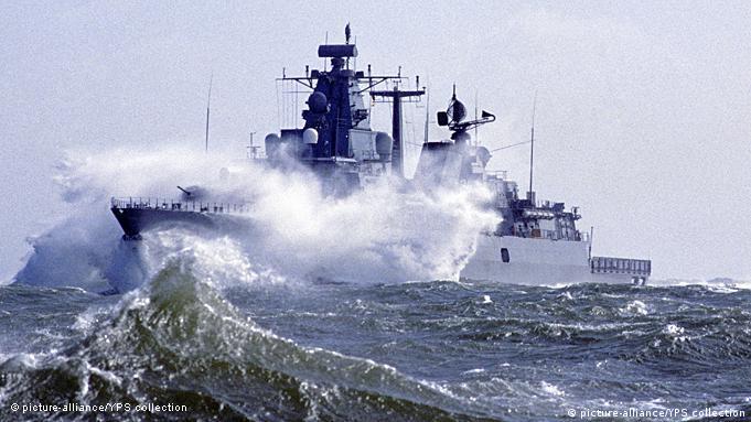 Deutschland Bundesmarine Fregatte Bayern Sturm Hohe See