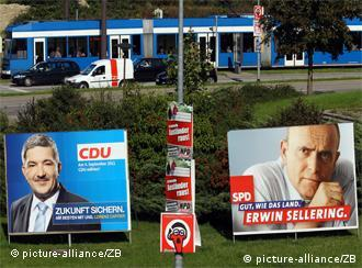 CDU and SPD election adverts in Mecklenburg-Western Pomerania