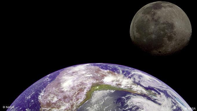 Future Now Projekt Weltraum Bild 2 Erde und Mond