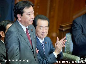 Yoshihiko Noda in the Diet after his election as Japan's Prime Minister
