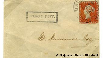 A rare Red Mauritius stamp on a letter from 1847 which contains an invitation to a ball