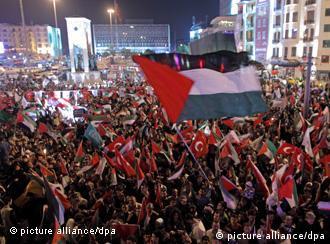 تظاهرات بزرگ در استانبول در سالگرد کشته شدن مدافعان حقوق فلسطینیان در کشتی امدادی ترکیه