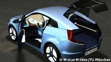 2011, MUTE-Elektroauto von der Technischen Universität München. Foto: Wotan Wilden / TU München, Alle Rechte an die Deutsche Welle abgetreten für eine TU Berichterstattung mit Nennung Copyright,