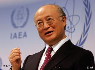 Director General of the International Atomic Energy Agency, IAEA, Yukiya Amano from Japan speaks during a news conference after IAEA's board of governors meeting at Vienna's International Center in Vienna, Austria, on Thursday, Dec. 2, 2010. (AP Photo/Ronald Zak)