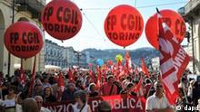 Italien Streik Sparkpaket