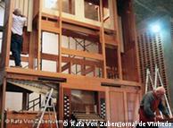A capela do mosteiro de Vinhedo foi reformada para receber o instrumento de 5 metros de altura
