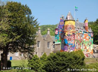 Castelo de Kelburn, na Escócia