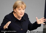 Ангела Меркель во время выступления в бундестаге