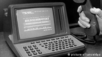 Bildschirmtext-Prototyp (Foto: dpa)