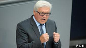Bundestag Finanzplan SPD Frank-Walter Steinmeier