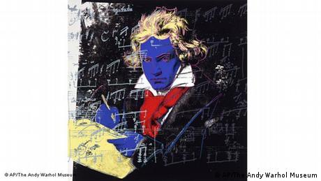 Beethoven, blue in the face: that's the way Andy Warhol reworked Stieler's image,1987  Copyright: AP/The Andy Warhol Museum