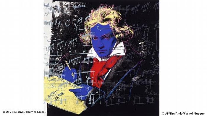 Beethoven, blue in the face: that's the way Andy Warhol reworked Stieler's image,1987 