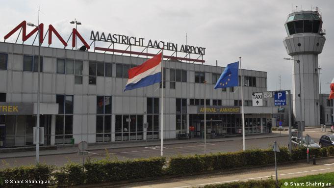 Front of Maastricht Aachen Airport