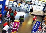 Lobby of Maastricht Aachen Airport
