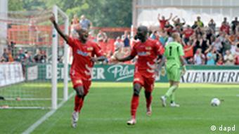 FC Union players celebrate