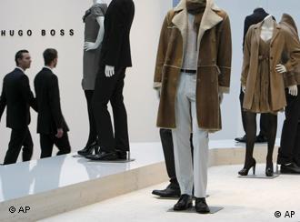 Hugo Boss clothing on mannequins