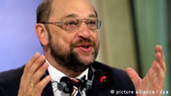 Porträt vom EU-Parlamentspräsidenten Martin Schulz (SPD)