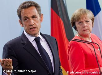 French President Nicolas Sarkozy and Chancellor Angela Merkel